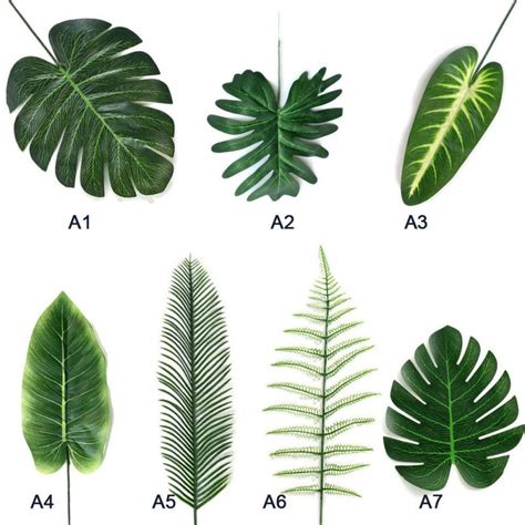 Check out our artificial leaf wall selection for the very best in unique or custom, handmade pieces from our artificial flowers shops. Artificial Green Leaf Ivy Wall Decor Tropical Palm Fake ...