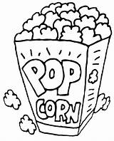 Popcorn Coloring Printable Drawing Kernel Pop Corn Snack Sheets Sheet Template Healthiest Container För Bildresultat Google Colored Drawings Se Paintingvalley sketch template