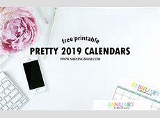 Free Printable 2019 Calendar Beautiful and Colorful!