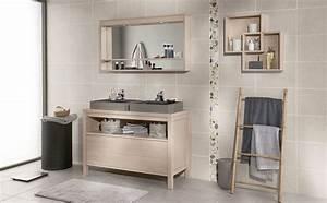 beautiful meuble bois salle de bain ideas bikepartyus With meuble salle de bain stella
