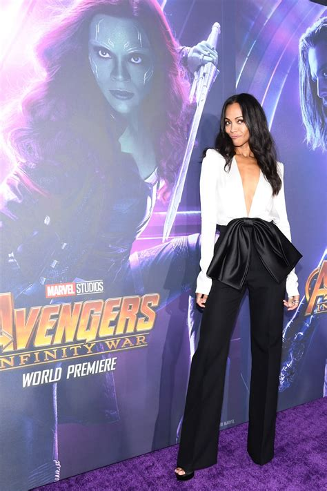 Permalink to Zoe Saldana At Avengers Infinity War Premiere In Los Angeles