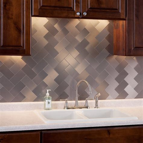 self adhesive kitchen backsplash tiles 32 pcs peel and stick kitchen backsplash adhesive metal