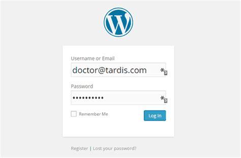 user log   email  wordpress