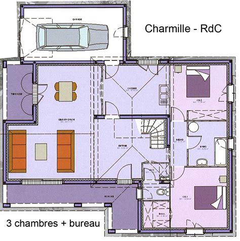 plan maison 3 chambres 1 bureau plan électricité maison distribution de l 39 alimentation
