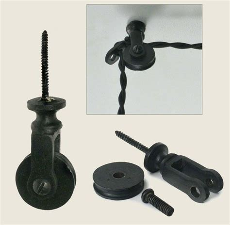 of 2 in ceiling wall mount iron pulleys