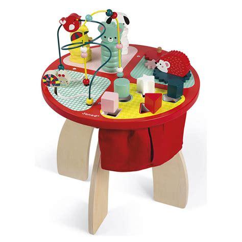 table d activite bois table d activit 233 s baby forest en bois janod king jouet activit 233 s d 233 veil janod jeux d 233 veil