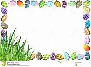 Border With Colorful Easter Eggs Stock Illustration ...