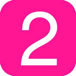 Pink Number Clipart