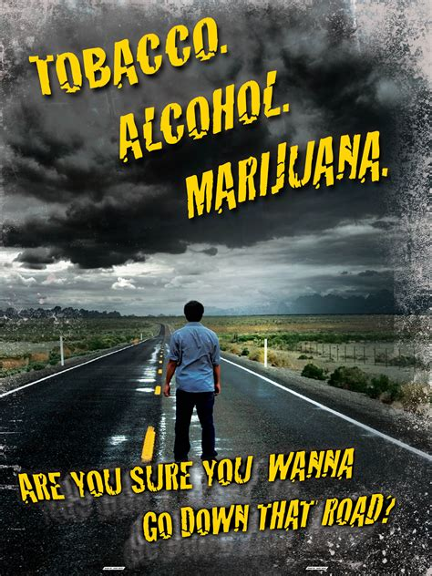 gateway drugs tobacco alcohol marijuana mini poster