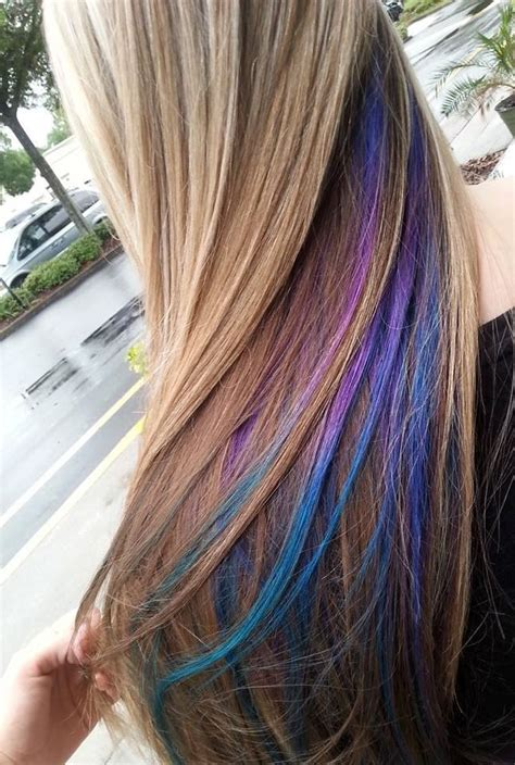My Purple Blue And Teal Peekaboos Do Want Dyed