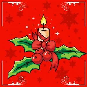 Bougies De Noel : bougie de no l et de houx t l charger des vecteurs ~ Melissatoandfro.com Idées de Décoration