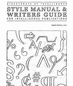 The Cia U0026 39 S Style Manual  U0026 Writer U0026 39 S Guide  185 Pages Of Tips