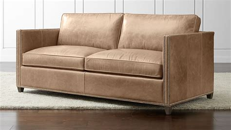 Apartment Sofa Leather by Dryden Leather Apartment Sofa With Nailheads Libby