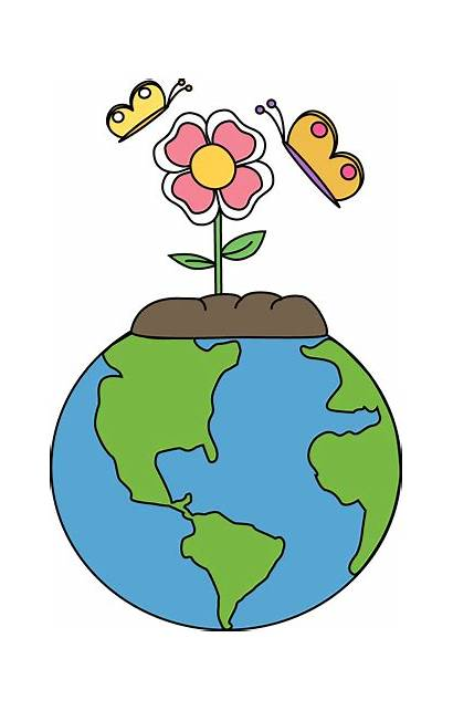 Earth Nature Clip Globe Flower Graphics Planted
