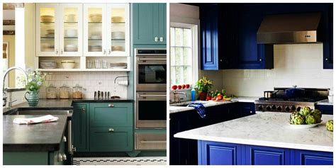 two coloured kitchen cabinets kitchen cabinet paint colors 2019 top trendy colors for 6425