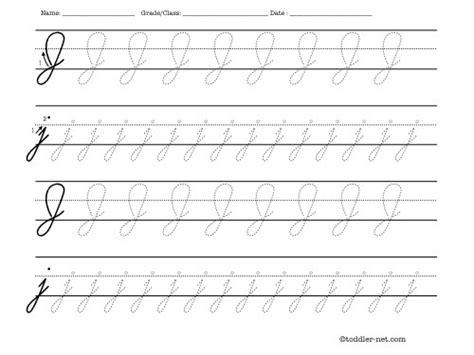 Bentuk muka seperti pinang (lonjong). J In Cursive : Learn to write the letter j in cursive.