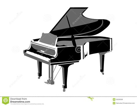 le piano a queue piano 224 queue r 233 aliste illustration de vecteur image du m 233 lodie 26209568
