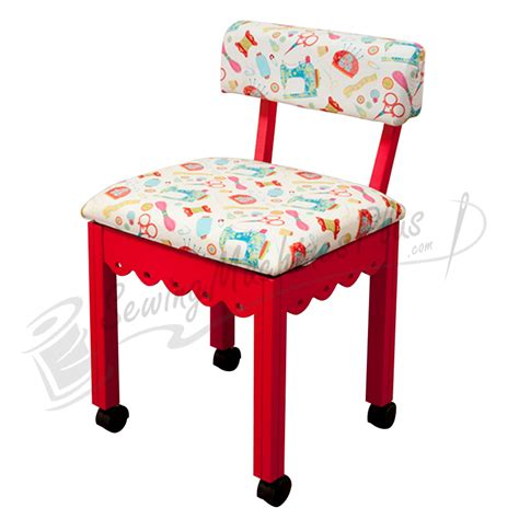 arrow sewing chair white fabric on 7016w