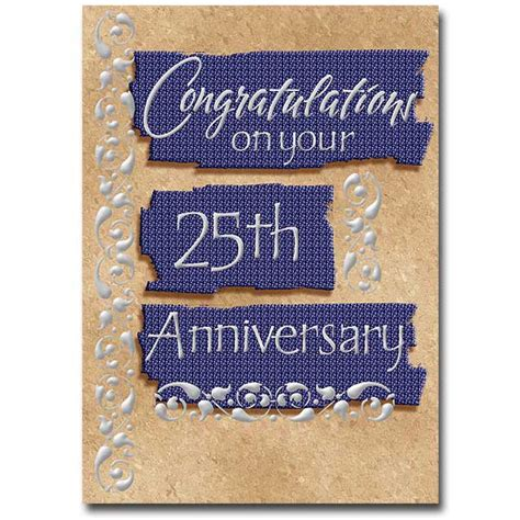 Congratulations On Your 25th Anniversary General 25th Anniversary Card