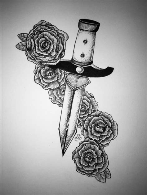 dagger and rose tattoo | Tumblr