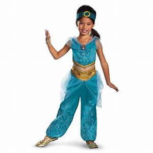 Jasmine Sparkle Deluxe Disney Princess Girls Halloween ...