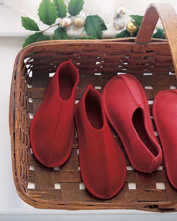 felt slippers martha stewart