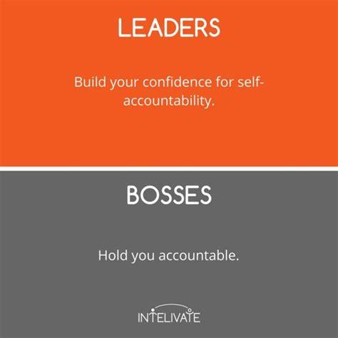 leader  boss  defining characteristics   leader