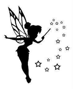 tinkerbell silhouette tattoos