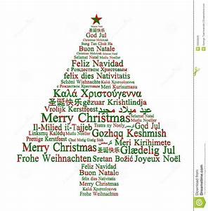 Frohe Weihnachten In Den Verschiedenen Sprachen Stock