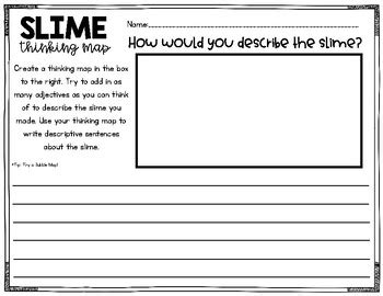 slime sequence  writing activity freebie  read