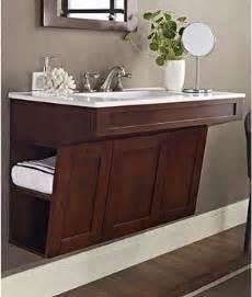 fairmont designs shaker 36 quot wall mount ada vanity cherry modern bathroom vanities and