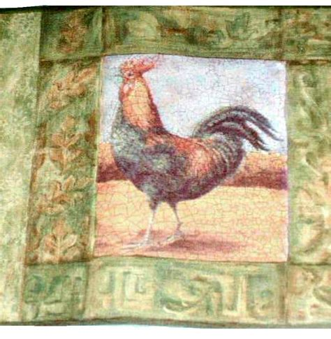 Roosters Wall Border Rooster Wallpaper Country Decor