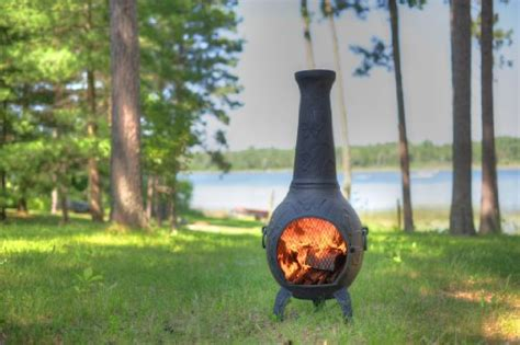 The Blue Rooster Butterfly Chiminea With Gas In Charcoal