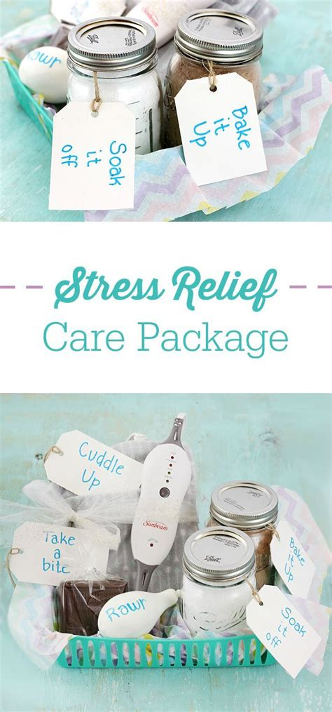 stress relief care package ideas diy gifts stress