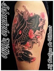 Tatouage Homme Japonais : tatouage japonais black carpe koi sebaninho tattoo tatouage japonais femme ~ Melissatoandfro.com Idées de Décoration