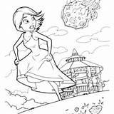 Meteor Coloring Aliens Monsters Susan Designlooter Monster Running Away sketch template