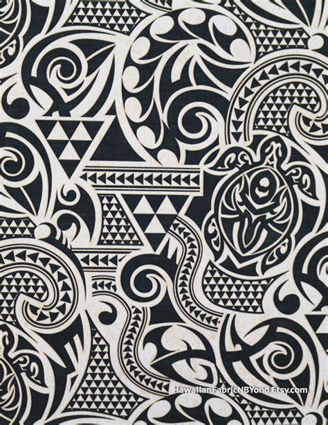 fabric polynesian tribal tapa tattoo patterns