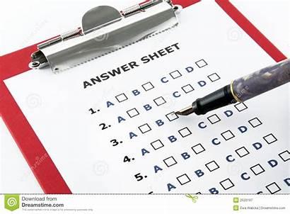Answer Sheet Clipboard Royalty Pen Education Dreamstime