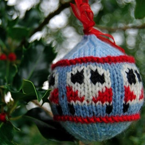 festive  knitted christmas ornaments