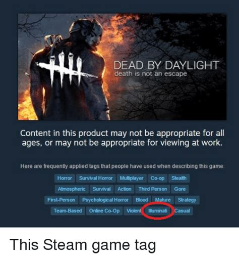 Dead By Daylight Memes - dead by daylight death is not an escape content in this product may not be appropriate for a