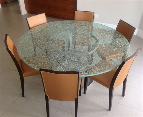 crackle glass table l crackle glass dining table top house photos crackle