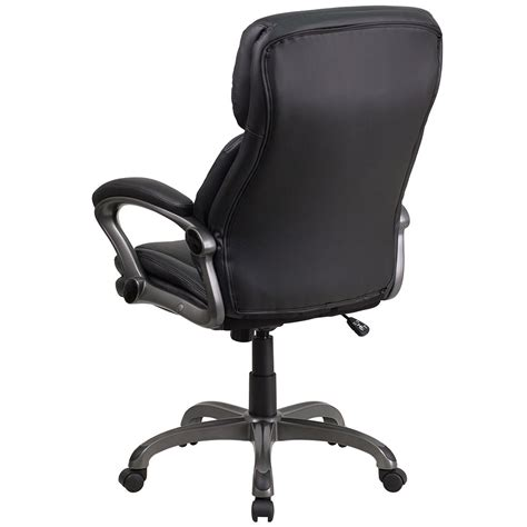 Office Chairs For Back by Ergonomic Home High Back Black Leather Executive Swivel