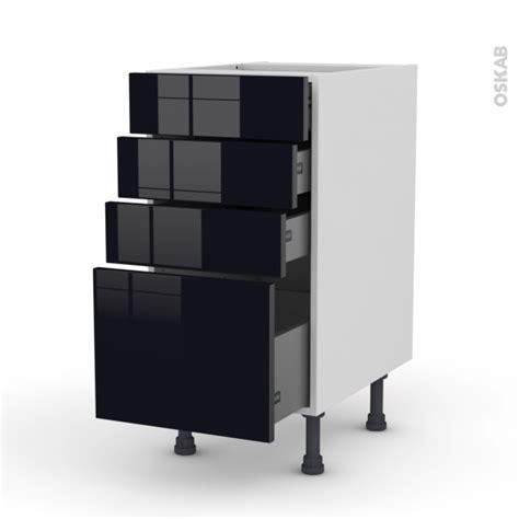 meuble de cuisine noir meuble de cuisine casserolier keria noir 4 tiroirs l40 x h70 x p58 cm oskab