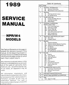 1989 Npr  U0026 W4 Truck Repair Shop Manual Original Binder