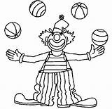 Clown Coloring Cute Pages Kid Drawing Colour Circus Getcoloringpages Balloons Magic Wand sketch template