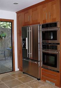 Wall Cabinet With Double Oven And Fridge In 2019