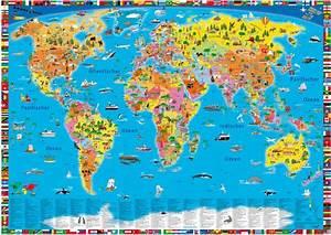 Weltkarte Poster Kinder : illustrierte politische weltkarte buch ~ Yasmunasinghe.com Haus und Dekorationen
