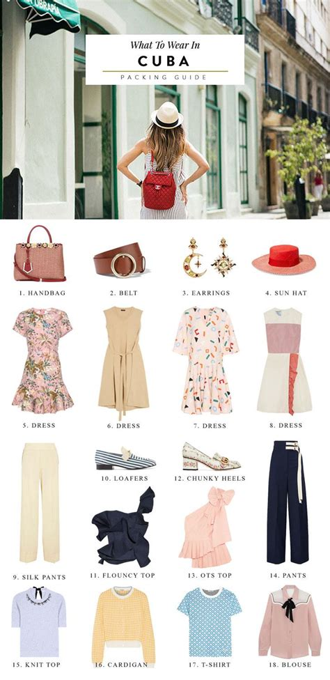 wear  cuba packing list suggested outfits