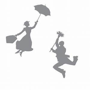 Mary Poppins & Bert Silhouettes | Mary Poppins, Silhouette ...