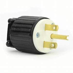 Straight Electrical Plug 3 Wire  15 Amps  250v  Nema 6-15p
